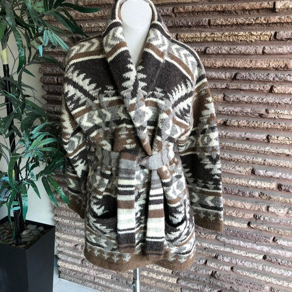 8727a2eac Ralph Lauren Indian Blanket Hand Knit Sweater Coat.  M 5bf603d57386bca24d220a69